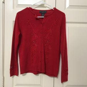 A  cashmere sweater in excellent condition